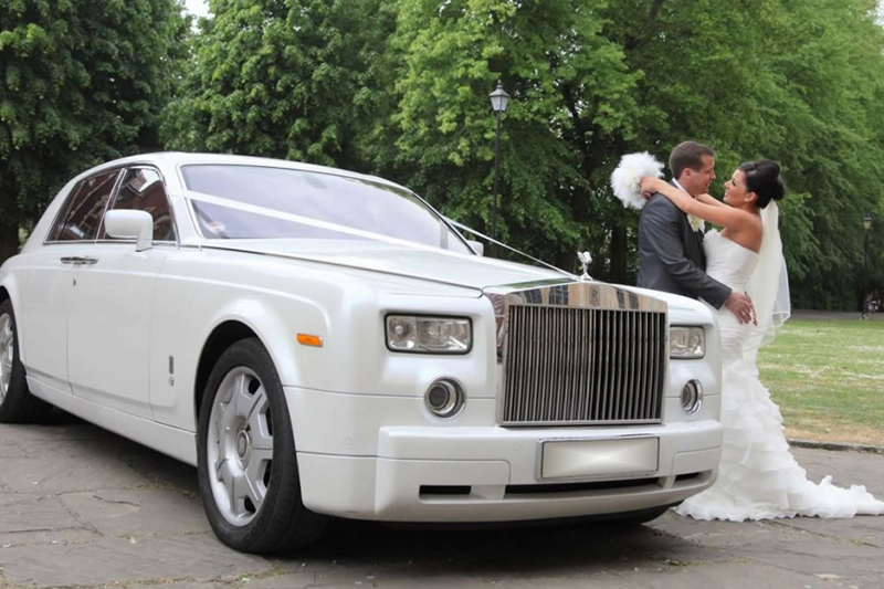 White Rolls Royce Phantom Leicester Chauffeur Services